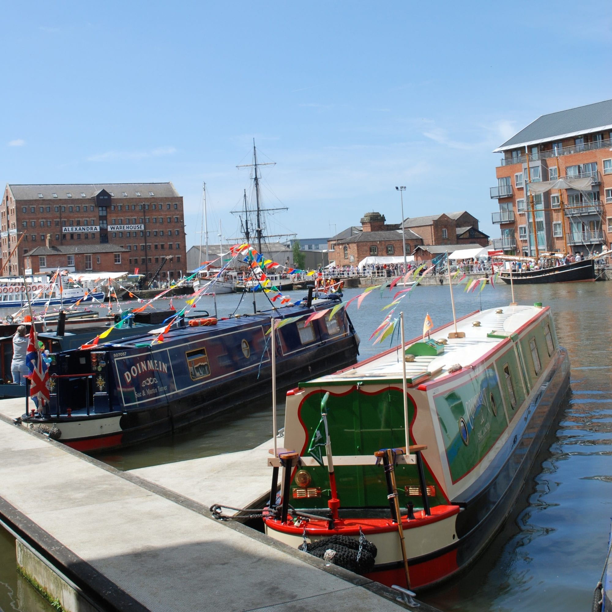 narrow boats gloucester docks tall ships festival