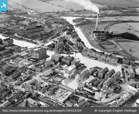 gloucester docks from the north east  1947