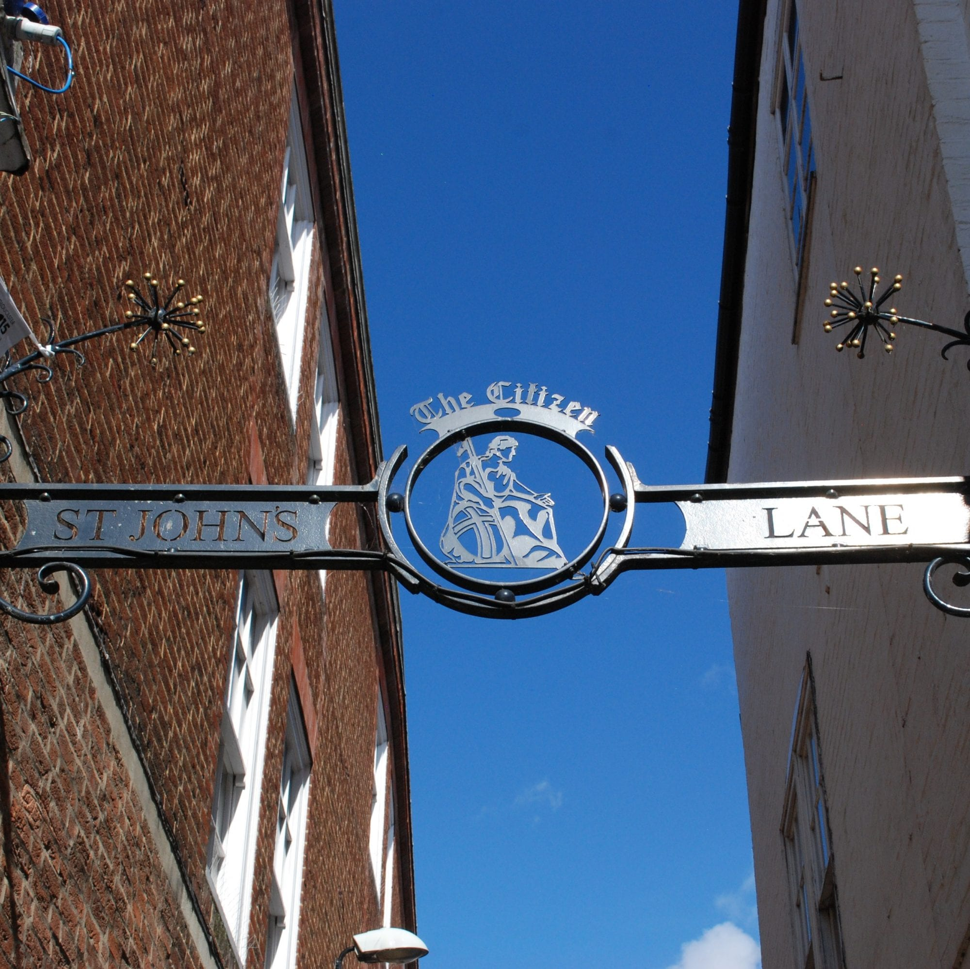 st johns lane sign